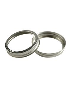 Canning Jar Rings - Wide Mouth Mason Bands Only (Silver)