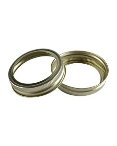 Canning Jar Rings - Regular Mouth Mason Bands Only (Gold)