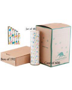 Confetti Dots Paper Drinking Straw | Aardvark® 61520018