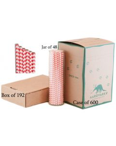 Coral Chevron Paper Drinking Straw Wholesale