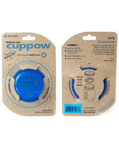 Cuppow Lids for Mason Jars - Regular Mouth Blue Wholesale