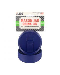 Drink Lid for Mason Jar iLid Regular Mouth - Cobalt