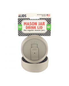 Drink Lid for Mason Jar iLid Regular Mouth - Gray