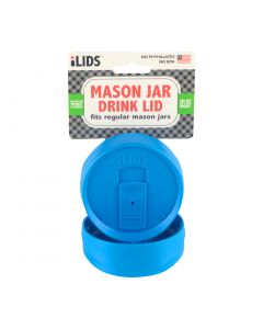 Drink Lid for Mason Jar iLid Regular Mouth - Sky Blue