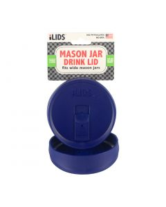 Drink Lid for Mason Jar ILid Wide Mouth - COBALT