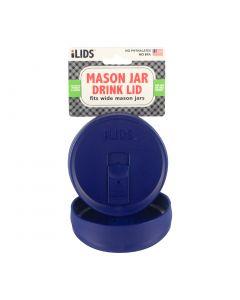 Drink Lid for Mason Jar ILid Wide Mouth - COBALT