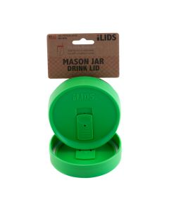 Drink Lid for Mason Jar ILid Wide Mouth - GRASS GREEN