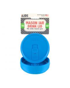 Drink Lid for Mason Jar iLid Wide Mouth Sky Blue