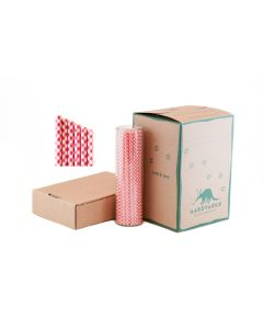 Gingham Paper Drinking Straw