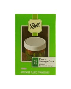 Wide Mouth Ball Plastic Storage Caps