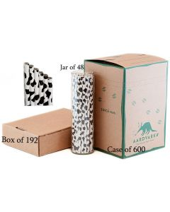 Jet Black Cow Print Paper Drinking Straw
