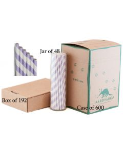 Paper Straws Wholesale Lilac Purple Striped | Aardvark®