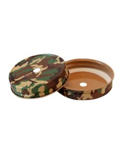 Mason Jar Straw Hole Lid - CamoRC-G70-Hole 9MM Camo