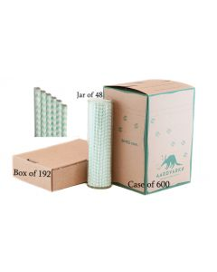 Mint Green Chevron Paper Drinking Straw