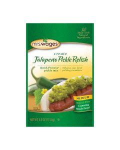 Medium Jalapeno Pickle Relish Mix - Mrs WagesMRSW005