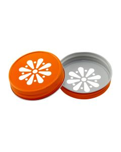 Orange Daisy Mason Lid Unlined G70RC-G70 DORU