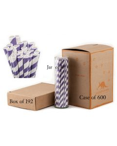 Paper Straws Wholesale Purple Striped | Aardvark®