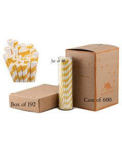 Paper Straws Wholesale Yellow Striped | Aardvark®