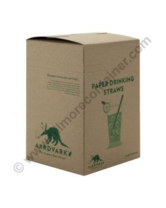 Colossal Paper Drinking Straw Black 8.5"