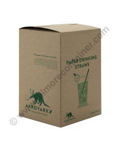 "Colossal Paper Drinking Straw Black 8.5"" | Aardvark®"