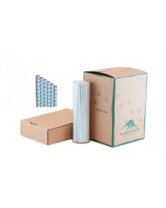 Powder Blue Chevron Paper Drinking Straw