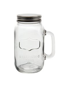 38oz Jar Mug with Silver Lid