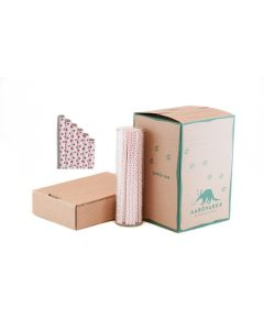 Razzmatazz Pink Dots Paper Drinking Straw Wholesale
