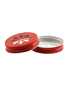 Red Daisy Mason Lid - Unlined G70RC-G70 DRU