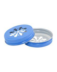70-450 Sky Blue Daisy Mason Jar Lids
