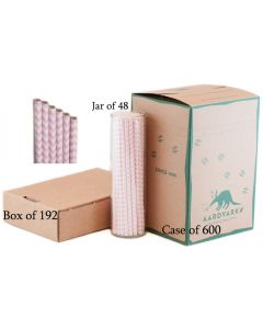Soft Pink Chevron Paper Drinking Straw