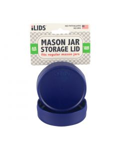 Storage Lid for Mason Jar iLid Regular Mouth - Cobalt