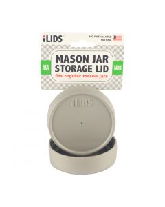 Storage Lid for Mason Jar iLid Regular Mouth - Gray