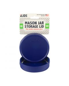 Storage Lid for Mason Jar iLid Wide Mouth - COBALT