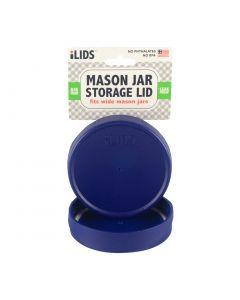 Storage Lid for Mason Jar iLid Wide Mouth - COBALT