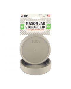 Storage Lid for Mason Jar iLid Wide Mouth - Gray