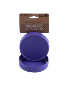 Storage Lid for Mason Jar iLID Wide Mouth - PURPLE