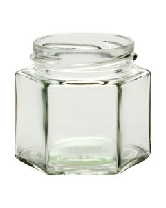 4 oz Hexagon Jars 58 LugG04-04W