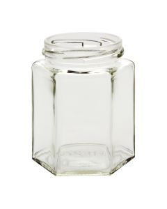 Hexagon Jars - 9oz Six-SidedG09-01W