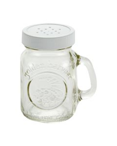 4oz S&P Handles Jar with-White Sifter Caps 48 CTJ40501