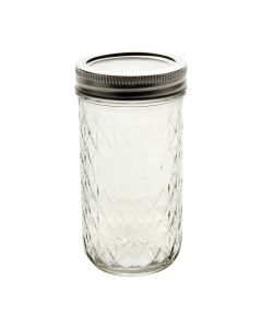 Ball 12 oz Quilted Crystal Jars with Bands and LidsJ81400