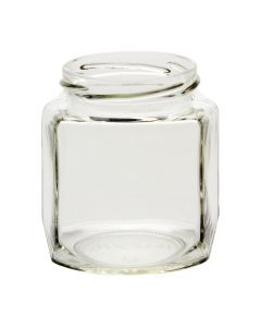 9 oz Oval Hexagon Jar 63 LugB09-04W