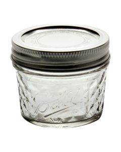 Ball 4 oz Quilted Crystal Jars with Bands and LidsJ80400