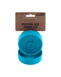 Drink Lid for Mason Jar iLid Regular Mouth – Aqua BlueIL RM DRK Aqua Blue