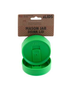 Drink Lid for Mason Jar iLid Regular Mouth – Grass GreenIL RM DRK Grass Green