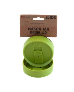 Drink Lid for Mason Jar iLid Regular Mouth – Lime GreenIL RM DRK Lime Green