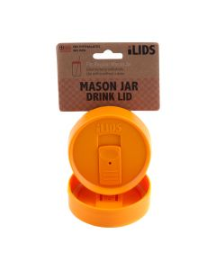Drink Lid for Mason Jar iLid Regular Mouth –OrangeIL RM DRK Orange