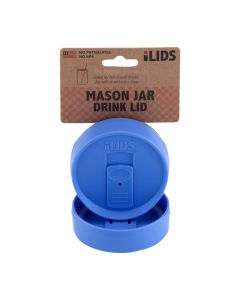 Drink Lid for Mason Jar iLid Regular Mouth – PeriwinkleIL RM DRK Periwinkle