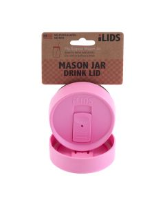 Drink Lid for Mason Jar iLid Regular Mouth_PinkIL RM DRK Pink