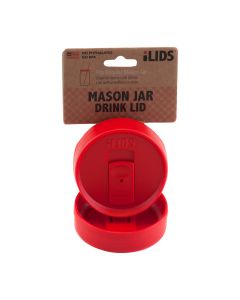 Drink Lid for Mason Jar iLid Regular Mouth – RedIL RM DRK Red