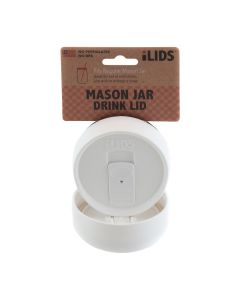 Drink Lid for Mason Jar iLid Regular Mouth_ WhiteIL RM DRK White